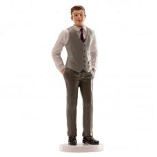 Groom Figurine in Grey Waistcoat