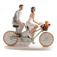 Wedding Couple on a Bicycle Cake Topper