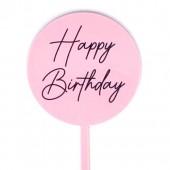 Baby Paddle - Baby Pink Happy Birthday