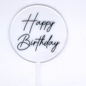 Baby Paddle - Clear Happy Birthday