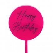Baby Paddle - Hot Pink Happy Birthday