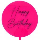 Printed Acrylic Paddle - Hot Pink Happy Birthday