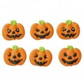 Decora Pumpkin Sugar Decorations Pk/6