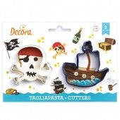 Decora Skull & Pirate Ship Cookie Cutters