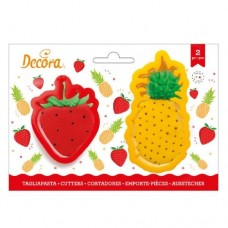 Decora Pineapple & Strawberry Cookie Cutters