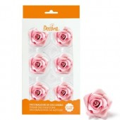 Decora 50mm Pink Roses Pk/6