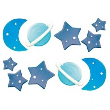 Decora Galaxy Sugar Decorations Pk/10
