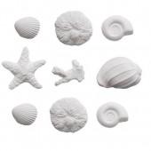 Decora Sea Shells Sugar Decorations Pk/9