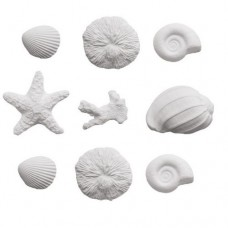 Decora Sea Shells Sugar Decorations Pk/9