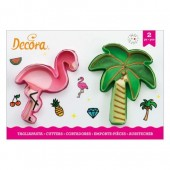 Decora Flamingo & Palm Tree Cookie Cutters