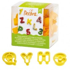 Decora Alphabet & Numbers Cutters Set/36