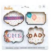 Decora Frames Cookie Cutters Set/4