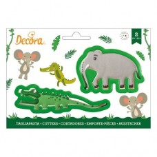 Decora Crocodile & Elephant Cookie Cutters