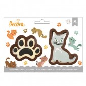 Decora Cat & Paw Cookie Cutters
