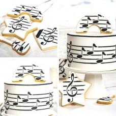 Decora Cake Stencil - Music Score