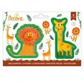 Decora Giraffe & Lion Cookie Cutters