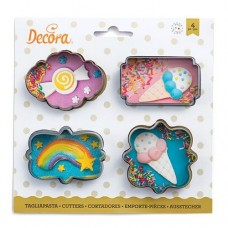 Decora Mini Frames Cookie Cutters Set/4