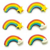Decora Rainbow Sugar Decorations Pk/6