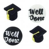 Graduation Sugar Pipings Pk/12