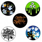 Happy Halloween Cupcake Toppers - 15 x 2""