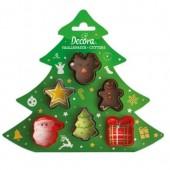 Decora Mini Christmas Cutters Set/6