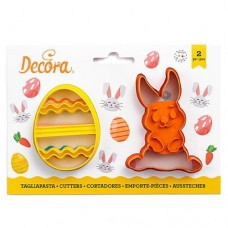 Decora Bunny & Decorated Egg Cutters Set/2