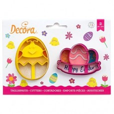 Decora Chick & Egg with Festoon Cutters Set/2