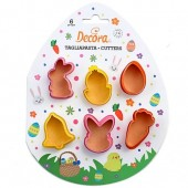Decora Easter Mini Cutters Set/6