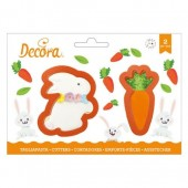 Decora Bunny & Carrot Cutters Set/2