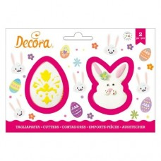 Decora Egg & Bunny Face Cutters Set/2