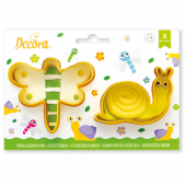 Decora Dragonfly & Snail Cutters