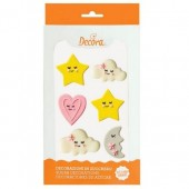 Decora Baby Girl Sugar Decorations Pk/6