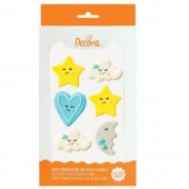Decora Baby Boy Sugar Decorations Pk/6