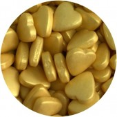 Gold Heart Sprinkles 80g