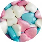 Pastel Heart Sprinkles 90g