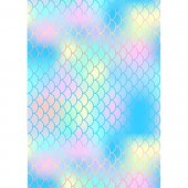 Iridescent Mermaid Scales Wafer Paper Sheets Pk/2