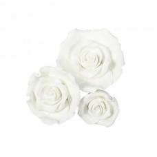 Mixed White Sugar Soft Roses Pk/12