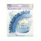 PME Baby Blue Cupcake Wrappers Pk/12