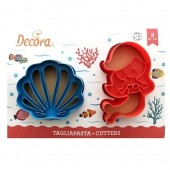 Decora Mermaid & Shell Cookie Cutters