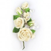Ivory Rose Spray - 145mm