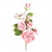 Pink Rose Spray - 145mm