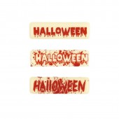 Belgian Chocolate Red Halloween Plaques Pk/10