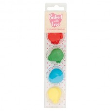 Baked with Love Sugar Pipings - Balloons Pk/12