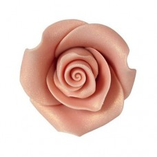 38mm Rose Gold Sugar Soft Roses Pk/20
