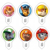 Paw Patrol Wafer Decorations Pk/26