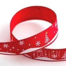 15mm Snowy Village Ribbon - 5m Roll