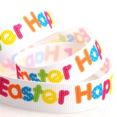 15mm Happy Easter Ribbon - 5m Roll