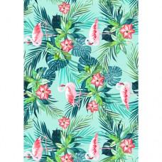 Flamingos & Jungle Flowers Wafer Paper Sheets Pk/3