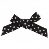 7mm Black & White Polka Dot Satin Bow