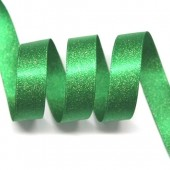 15mm Emerald Green Sparkle Ribbon